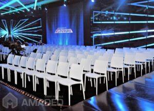 wynajem bialych krzesel eventowych MAYA 01