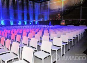 wynajem bialych krzesel eventowych MAYA 03