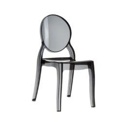 wynajem krzesel krzesla czarne przezroczyste elizabeth 1