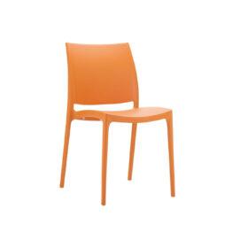 wynajem krzesel pomaranczowe krzesla maya orange 1