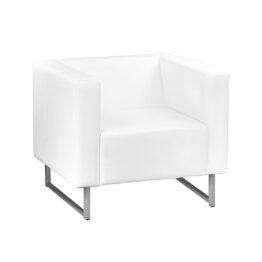 wynajem foteli fotel bialy skorzany sepio white