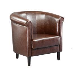 wynajem foteli fotel brazowy skorzany classic brown
