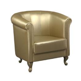 wynajem foteli fotel zloty skorzany classic gold