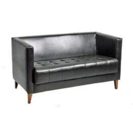 wynajem sof sofa czarna skorzana mio duo black