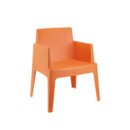 wynajem krzesel krzesla ogrodowe pomaranczowe box 1