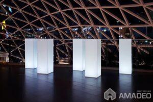ekspozytory cube 100 led podswietlane wynajem 22