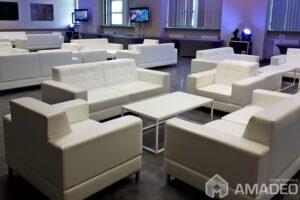 fotele sofy venna biale pikowane wynajem warszawa