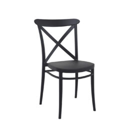 czarne krzesla loftowe CROSS wynajem