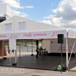 hala namiotowa eventowa ALFA 8x12m wynajem Warszawa Bulwary Wislane
