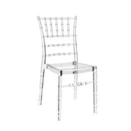krzesla weselne przezroczyste chiavari wynajem Amadeo