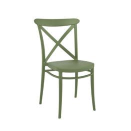 krzeslo loftowe wertykalne CROSS Olive Green zielone wynajem