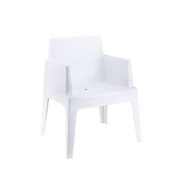 krzeslo ogrodowe eventowe biale BOX White wynajem krzesel Amadeo