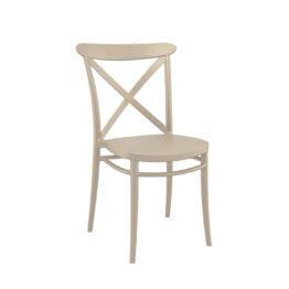 krzeslo wertykalne CROSS bezowe na wypozyczalnia krzesel nietypowych