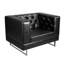 wynajem foteli fotel czarny skorzany pearl black 1