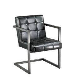 wynajem foteli fotel nowoczesny czarny industrial black 1