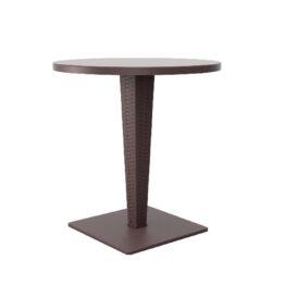 wynajem stolikow stolik rattanowy plenerowy RIVA brazowy 1